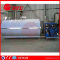 Large Scale Stainless Steel Horizontal Milk Cooling Tank 380v / 220v 2000L Manufactures