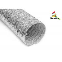 Quality Air exhausting single or double layer aluminum flexible ducting , flexible for sale