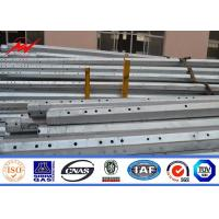 Small Floor Area Transmission Electric Power Pole With Hot Dip Galvanized Manufactures