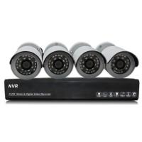 1.0 Megapixel IP Bullet wireless security camera systems NVR Kits Manufactures