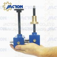 Reliable JTC2.5 2.5kn small adjustable miniature gear screw jack with hand wheel for equipment lifting Manufactures