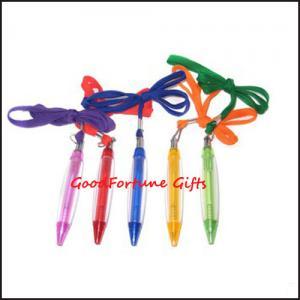 China Lanyard Tube Ballpoint Pen promotion pen on sale
