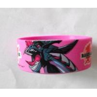 Pretty Animal Logo Custom Silk Screen Printed With Silicone Wristband Manufactures