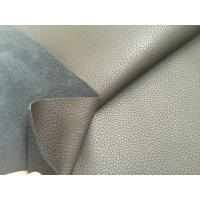 Quality Dark Brown 50% Recycled Genuine Leather Fabric 1.2mm - 1.4mm Thickness for sale