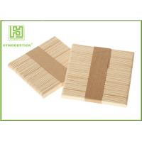 Beveled Edge Ice Block Stick Crafts Making , Healthy Custom Popsicle Wooden Sticks Manufactures
