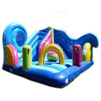 China 5 In 1 Combi Inflatable Playground Attractions Air Sewing Pvc Amusement Park on sale