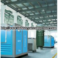 China 75kw motor driven stationary screw air compressor low noise 455cfm 115psi on sale