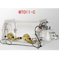China Transparent Table Top Lab Glove Box Portable Glove Box System 800*550*600mm Size on sale