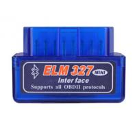 China Mini ELM327 V1.5 OBD2 Mini Obd2 Scanner Blue IOS Android System Supported on sale