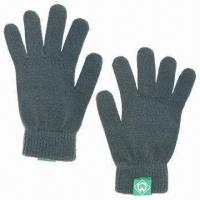 100% Acrylic Knitted Gloves Manufactures