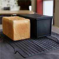 Buy cheap Lightweight Aluminum Bread Pullman Loaf Pan / Bread Toast Tin Long Life from wholesalers