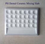 Dental Ceramic  Mixing Slab (  Plate),28 Slots , having plastic Cover Manufactures