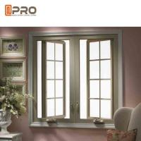 China Outward / Inward Open Aluminum Casement Windows With Stainless Steel Security Mesh on sale