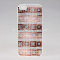 Change Color Check Diamond Plastic Case For iPhone 5 Manufactures
