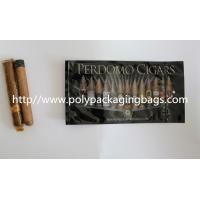 Zipper Resealable Cigar Packaging Bag 7 Colors Printing With Humidification System Manufactures