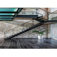 Buy cheap Luxury glass stair railing glass handrail post railing stainless steel handrail for stairs from wholesalers