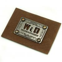Faux Personalized Leather Luggage Tags Metal Logo Multi Purpose For Hats Manufactures