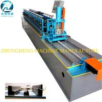 U Channel Stud And Track Roll Forming Machine With Manual Decoiler / Runout Table Manufactures