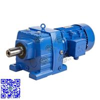 China HR17-167 Helical Inline Reduction Gear Motor With AC 3 Phase Motor on sale