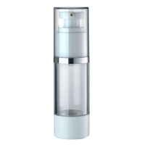 China Round 15ml 30ml SAN AS Airless Pump Bottles on sale