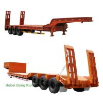 Gooseneck  Tri-axle Hydraulic Ladder Lowbed Semi Trailer Heavy Machine 60ton,80Ton Manufactures