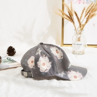 Constructed 54cm Embroidered Baseball Caps Flower Printing Manufactures