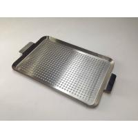 SS 201 304 316 Perforated Baking Tray Silver Color For Bbq And Household Manufactures