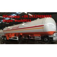 China factory price 17tons Double axles lpg road tanker trailer, best price 40.5m3 road transported lpg gas tank for sale on sale