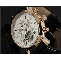 China Vintage White Dial Tourbillon Automatic Watch 80g With Week Date on sale