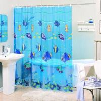China Printed Dots Polyester Shower Curtain and Bathroom Accessories on sale