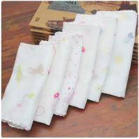 Durable Food Grade Muslin Cloth Eco Friendly Hypoallergenic Beach Used 35*35cm Manufactures