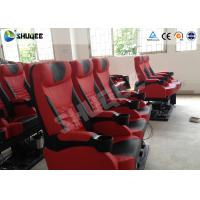 Genuine Leather 5D Movie Theater Electronic System Chair Metal Flat Screen Manufactures