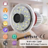 EAZZYDV Wireless  Mini Bulb Security Wifi Camera with White LED Light , Motion Dection, Night Vision, view by APP Manufactures