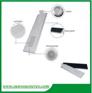 Led solar street lights 20w, solar garden light, integrated solar street light with sensor for cheap sale Manufactures