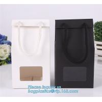 Wholesale Custom High-end luxury carrier bag shipping paper bag with Rope Handles,Retail Boutique Gift Carrier Packaging Manufactures