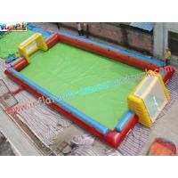 16L x 8W x 1.8H Meter Large Blow up Football pitch Inflatable Sports Games Rental Manufactures