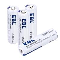 Long Lasting 3000mAh Rechargeable Cell Batteries , AA Lithium Ion Battery 1.5V for sale