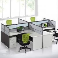 China Customized Call Center Office Furniture Partitions / 4 Person Workstation Desk on sale