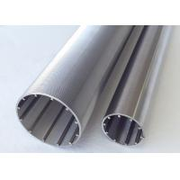 V Slot Filtering Stainless Steel Slot Tube With Profile Transverse Looped And Lengthways Support Rods Manufactures