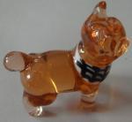 Decorative Handmade Glass Animals , Art Brown Glass Dog Sculpture Manufactures