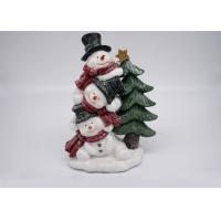 China Logo Customized Polyresin Crafts Snowman Christmas Tree Decorations Figurines Gifts on sale
