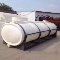 China 10000L plastic horizontal truck water storage tank for drink water on sale