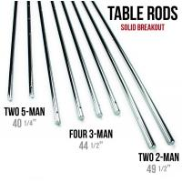 China Silver Chromed Solid 5 / 8 Inch Steel Rods For Standard Foosball Tables on sale
