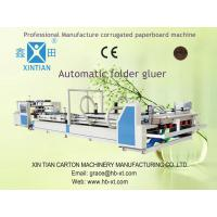 Pneumatic Paper Carton Making Machines Vacuum Feeding With Stacker Manufactures