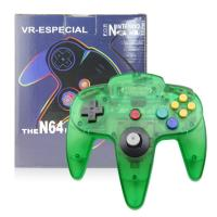 Clear Green N64 Game Controller Classic Wired Gamepad Joystick Plastic Material Manufactures