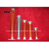 China 35kV ~ 66 KV Station Post Insulators / Solid Core Post Insulators Red Color on sale