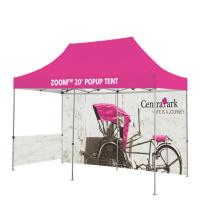 China Washable Outdoor Craft Show Tents Full Color Heat Transfer Printed Full Wall on sale