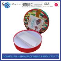Round Shape Rigid Gift Boxes Recyclable Chocolate Packaging Boxes Sedex Assured Manufactures