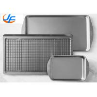 OEM Aluminium Baking Tray , All Clad D3 Stainless Steel Jelly Roll Pan For Industry Manufactures