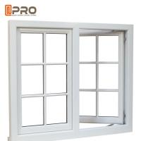 Residential Push Out Casement Windows / Aluminium Pivoting Window With Grid Design Manufactures
